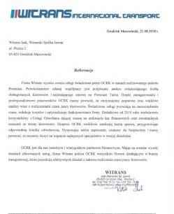Rekomendacje Witrans - miniatura