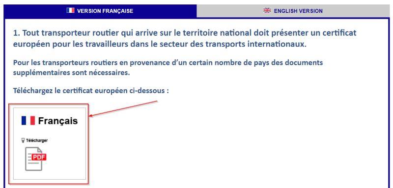 """oświadczenie """"certificat européen"""